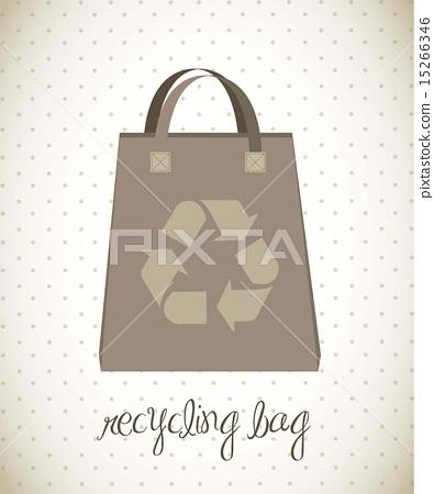 recycling bag over vintage background vector illustration 15266346