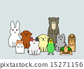 小狗 兔 兔子 15271156