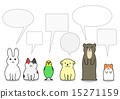 兔 兔子 對話泡泡 15271159