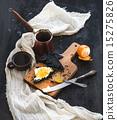 tangerine, coffee, breakfast 15275826