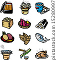 Food icon collection 15280997