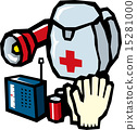 disaster prevention good, emergency supply, vector 15281000