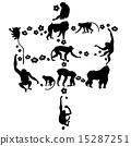 生肖 剪影 猴 15287251