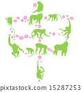 猴生肖 剪影 猴 15287253