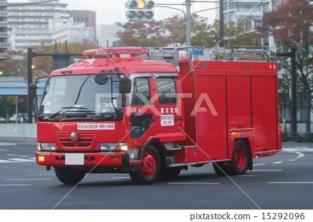Stock Photo: firetruck, fire engine, fire-engine