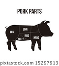 猪肉 白色 切 15297913