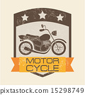 motorcycle design over pink background vector illustration 15298749
