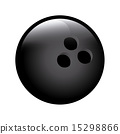 bowling ball over white background vector illustration 15298866