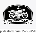 motorcycle design over white background vector illustration 15299858