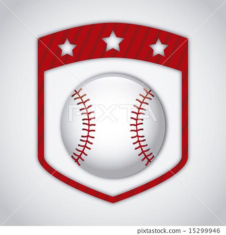 baseball seal over gray background vector illustration 15299946