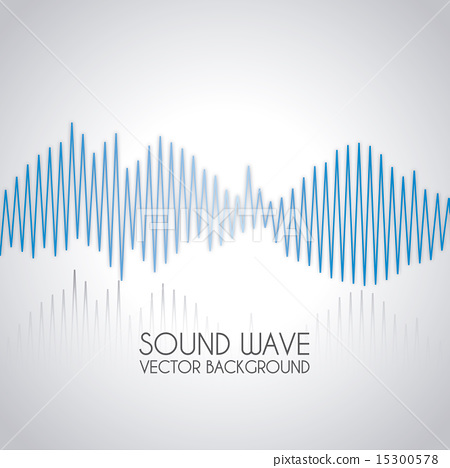 sound wave design over gray background vector illustration 15300578