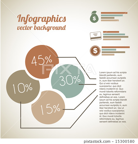 economic Infographics over vintage background vector illustarti 15300580