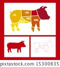 猪肉 红色 红 15300635