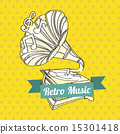 vector, retro, music 15301418