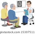 의사 환자 Doctor talking with his patient and family 15307511
