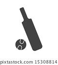Cricket Bat and Ball 15308814