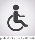 輪椅 有缺陷的 人類 15308946