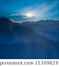 abstract background with mountains and sunrise 15309629