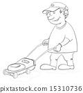 Lawn mower man, contours 15310736