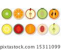 cross-section, fruits, fruit 15311099