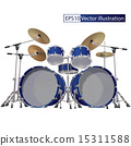 Drum Kit isolated on a white 15311588