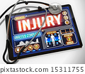 Injury on the Display of Medical Tablet. 15311755