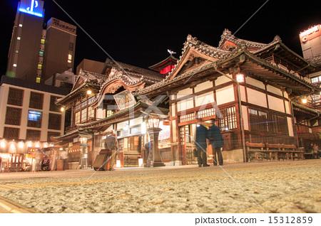 Dogo Onsen at night 15312859