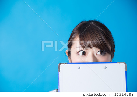 Office Casual Portrait (Blue Back) 15314988