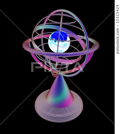 Terrestrial globe model 15315424