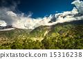 mountain, majestic, green 15316238
