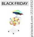 購物車 黑色星期五 黑色購物節 15316502