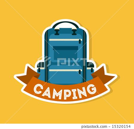 camping design over orange background vector illustration 15320154