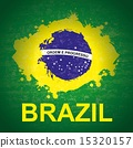 brazil design over green background vector illustration 15320157