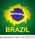 brazil design over green background vector illustration 15320157