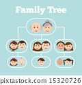 family design over blue background vector illustration 15320726