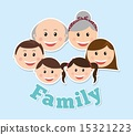 family design over blue background vector illustration 15321223