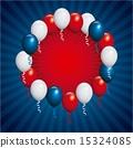 USA design over blue stripes background vector illustration 15324085