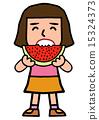 수박을 먹는 소녀 15324373