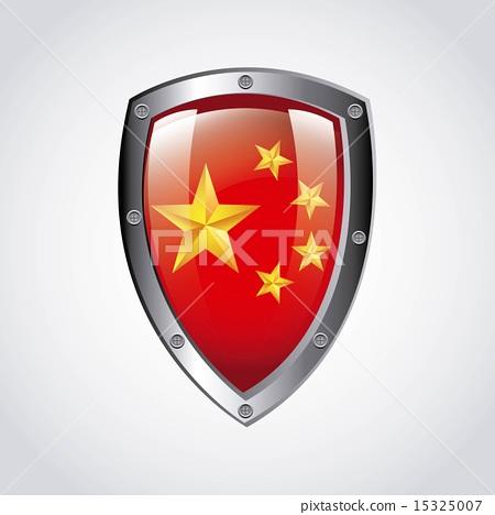 China design over gray background vector illustration 15325007