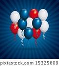 USA design over blue stripes background vector illustration 15325609