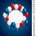 USA design over blue stripes background vector illustration 15325643