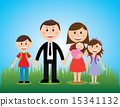 family design over sky background vector illustration 15341132