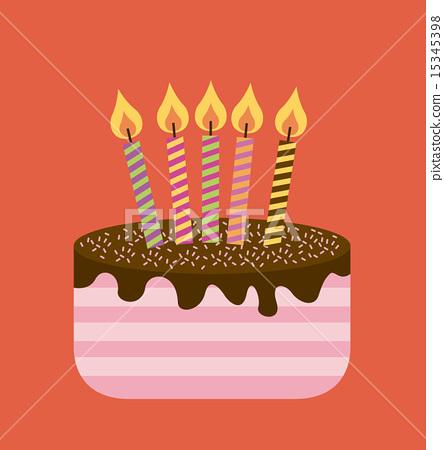 Birthday Design Over Red Background Vector Stock Illustration 15345398 Pixta