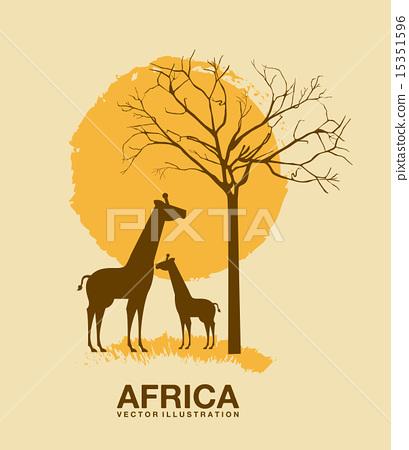 Africa design over beige background vector illustration 15351596