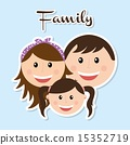 family design over blue background vector illustration 15352719