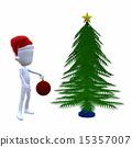 3D Christmas Guy With A Christmas Tree 15357007