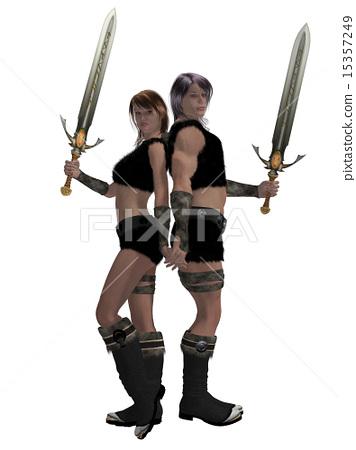 Warrior Barbarian Couple 15357249