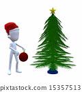 3D Christmas Guy With A Christmas Tree 15357513