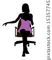 silhouette, office, chair 15357745