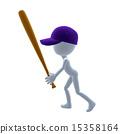 3D Baseball Guy 15358164